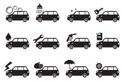 Car Service Icon Set Stock Images