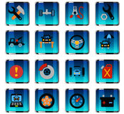 Car service icon set. Car service web icons for user interface design Stock Images