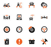 Car service icon set. Car service web icons for user interface design Royalty Free Stock Photo