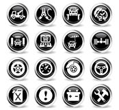 Car service icon set. Car service web icons for user interface design Stock Photography