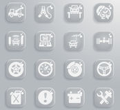 Car service icon set. Car service web icons for user interface design Royalty Free Stock Images