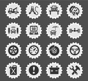 Car service icon set. Car service web icons for user interface design Royalty Free Stock Photos