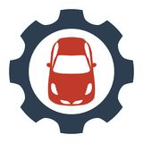 Car service icon on white background. stock illustration