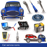 Car service icons Royalty Free Stock Photos