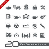 Car Service Icons -- Basics Stock Images