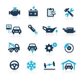 Car Service Icons -- BAzure Series Stock Images
