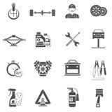 Car Service Icons Black Stock Photos