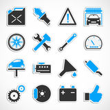Car Service Icons - Blue Royalty Free Stock Photos