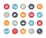 Car Service Icons // Classics Series. Vector icons for your web or printing projects Royalty Free Stock Photo
