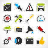 Car Service Icons -  color Royalty Free Stock Photos