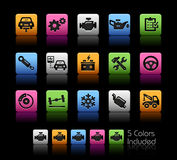 Car Service Icons // ColorBox Series Stock Image