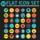 Car service icons, flat icons set Royalty Free Stock Image