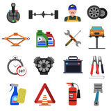 Car Service Icons Flat Set Royalty Free Stock Image