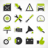 Car Service Icons - Green Royalty Free Stock Photos