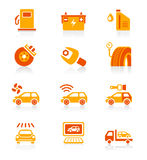 Car service icons | JUICY series Stock Photo
