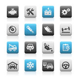 Car Service Icons, Matte Series Stock Photography