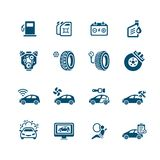 Car service icons | MICRO series Stock Image