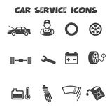 Car service icons Royalty Free Stock Photography