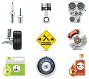 Car service icons. Part 3. Set of the car repair and maintenance related icons Royalty Free Stock Photography