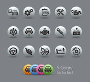Car Service Icons  Pearly Series Royalty Free Stock Photo