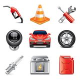 Car service icons photo-realistic vector set Stock Image