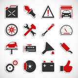 Car Service Icons - Red Stock Photo