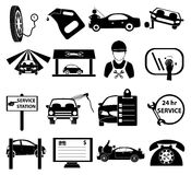 Car service icons set Stock Photos