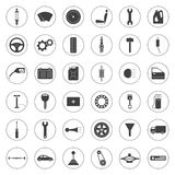 Car service icons set, car parts set Stock Photo