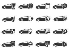 Car service icons set. Car service simply icons for web and user interfaces Stock Photography