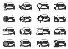 Car service icons set. Car service simply icons for web and user interfaces Royalty Free Stock Photos