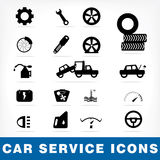 Car service icons set Stock Image