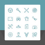 Car service icons set. Stock Photo