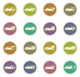 Car service icons set. Car service vector icons for web sites and user interfaces Royalty Free Stock Photos