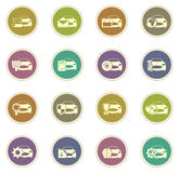 Car service icons set. Car service vector icons for web sites and user interfaces Stock Photos