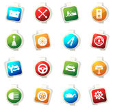 Car service icons set Stock Images
