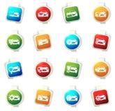 Car service icons set Royalty Free Stock Photo