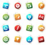 Car service icons set Stock Photo