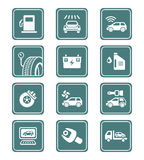 Car service icons | TEAL series Royalty Free Stock Photo