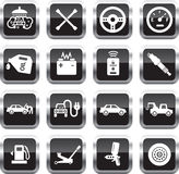 Car service icons Stock Images