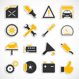 Car Service Icons - Yellow Royalty Free Stock Photography