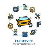 Car Service Illustration Stock Photos