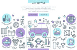 Car Service Illustration Royalty Free Stock Image