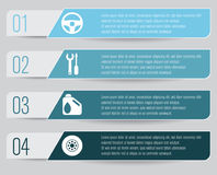 Car Service Infographic. With four options Royalty Free Stock Images
