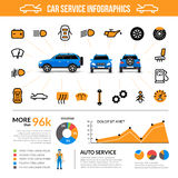 Car Service Infographic Set Stock Image