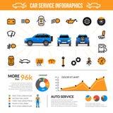 Car Service Infographic Set Stock Image