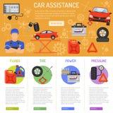 Car Service Infographics Stock Photo