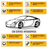 Car service infographics Royalty Free Stock Image