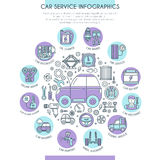 Car Service Infographics Royalty Free Stock Photo