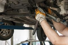 Car service inside Royalty Free Stock Photography