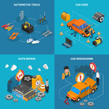 Car Service Isometric Conceptual  Icon Set Royalty Free Stock Photos